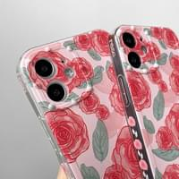 Pink Pink Rose Pattern Full Cover iPhone Case