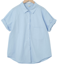 Nature Over Cotton Roll Up Shirt