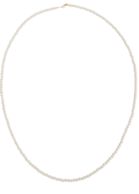 classic long pearl necklace