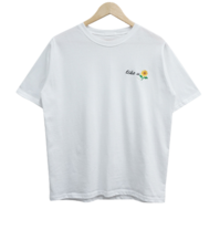 Sunflower Lettering Embroidery Short Sleeve Tee
