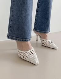 Stiletto heel shoes Ivory 235,240,2.5 only available