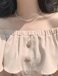beads clear necklace