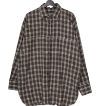 Big Size 55-120 Grand Check Loose-fit Fit Shirt
