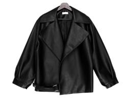 buckle belted leather jacket