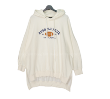 Big Size 55-120 Rugby Boxy-fit long pit Fleece-lined Hood