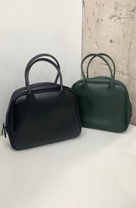 Rounding Square Leather Tote Bag