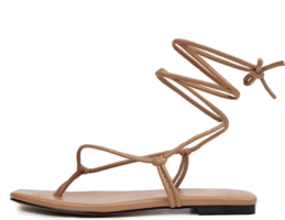 Holly flat lace-up sandals
