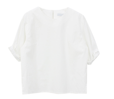 banding roll-up blouse