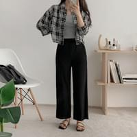 Reckley check cropped shirt