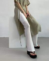 trigger see-through banding trousers