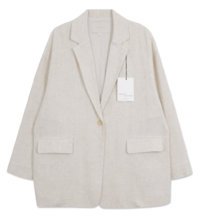 MMMM# Exclusive Order/Same Day Shipping Natural Rouge Tsarle Linen Jacket