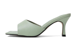 Isshu Square Outsole Round Cut Mule Heel Slippers 5354 ♡10th sold out♡