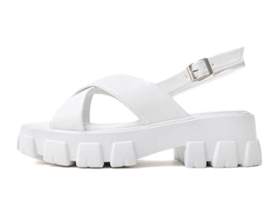 Wide cross strap whole heel sandals 9117 ♡ 1st sold out♡