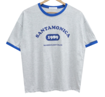 Monica color matching lettering short sleeve tee