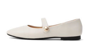 Isshu Square Nose One Button Mary Jane Flat Shoes 9079