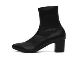 Two Material Shirring Ankle Zip Socks Boots 1858