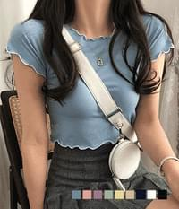 colorful color matching cropped T-shirt