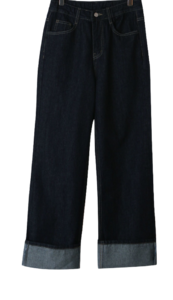 Beo roll-up denim trousers
