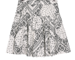 26-32 Inch Flap Paisley Cancan Skirt