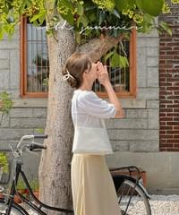 Five-pointed puff linen tea - 6color