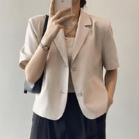 No Pad Cool Material Formal Summer Two-Button Jacket T#YW077