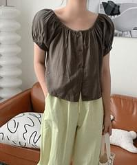 chao shirring blouse