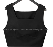 Square Neck Cropped Sleeveless Top