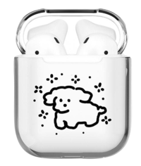 Mimi Maltese Transparent Jelly AirPods Case