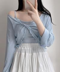 Yoni Knot Frilly + String Sleeveless 3color