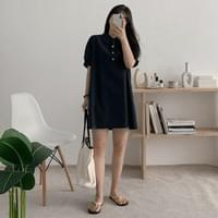 Colin Henry puff mini Dress recommended for short girls