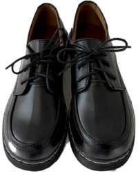 Rizzo stitch leather full-heeled loafers