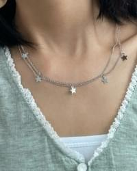 starlight double chain necklace