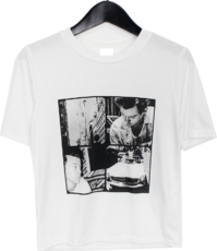 Scale cropped T-shirt