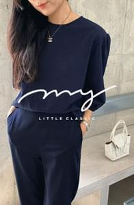 My-littleclassic #Exclusive order/Same-day delivery Weaving seersucker puff T-blouse