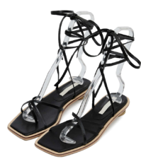 circle cross lace-up sandals