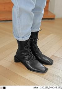 Lace-Up Heeled Boots