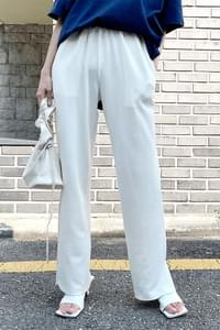 side slit Ribbed trousers