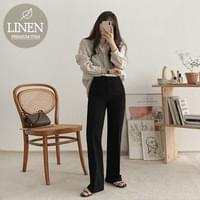 Ricoh linen striped shirt recommended for the changing season