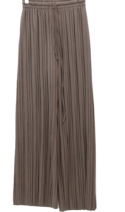 under pleated pleated banding pants
