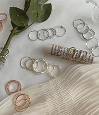 11 kinds of silver gold rose gold layered ring plan