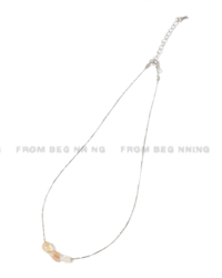 Triple Bead Layered Necklace