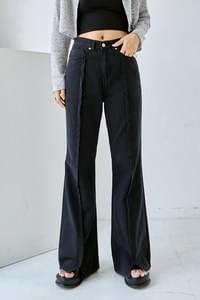 front slit Flared trousers