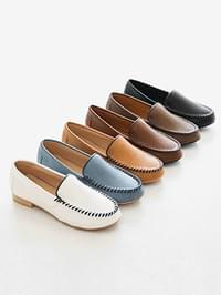 Stitch line height loafers 3cm