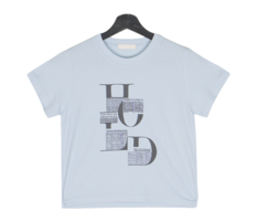 Secove Ribbed Lettering Short Sleeve Tee