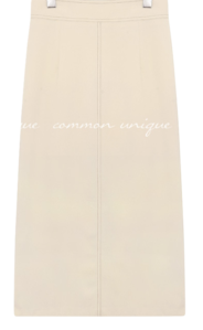 Stitched Solid Tone Skirt