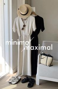 MMMM #Exclusive order/Same-day shipping Soft linen string jumpsuit