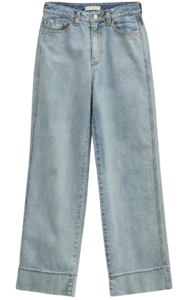 roll-up stretch straight jeans