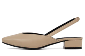 Two material slim square nose low heel slingback sandals 2400 ♡53 sold out♡