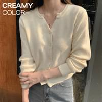 Cache spring V-Neck Ribbed Knitwear Cardigans Long sleeve T # YW815
