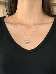 plumping heart layered necklace